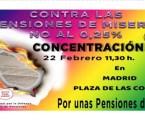 EL 22 De febrero Defendemos el Sistema Público de Pensiones