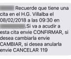 Hospitales públicos de Quironsalud instan a confirmar por sms sus citas, contra el criterio de Sanidad