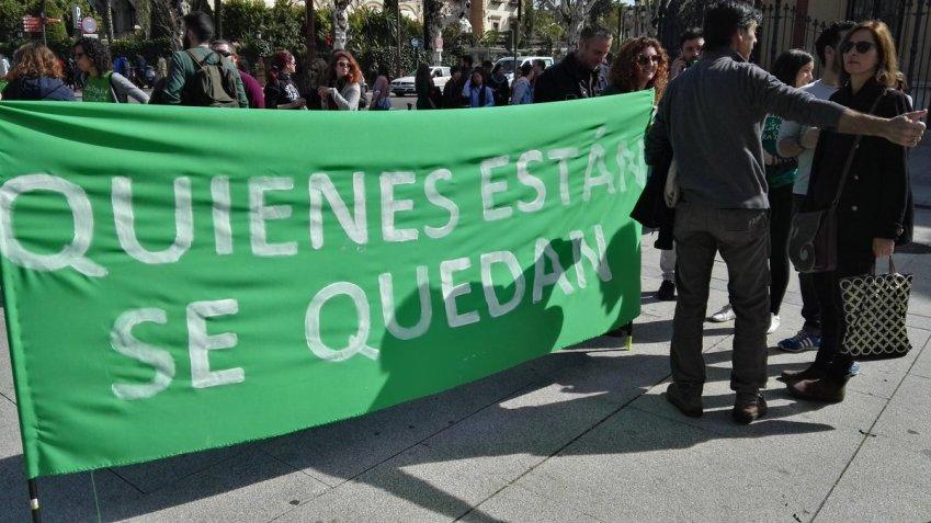 Huelga de interinos en Andalucía
