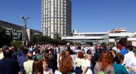 Concentración  contra la privatización de las cocinas y almacenes del hospital La Paz