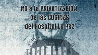 No a la privatización de las cocinas del Hospital La Paz