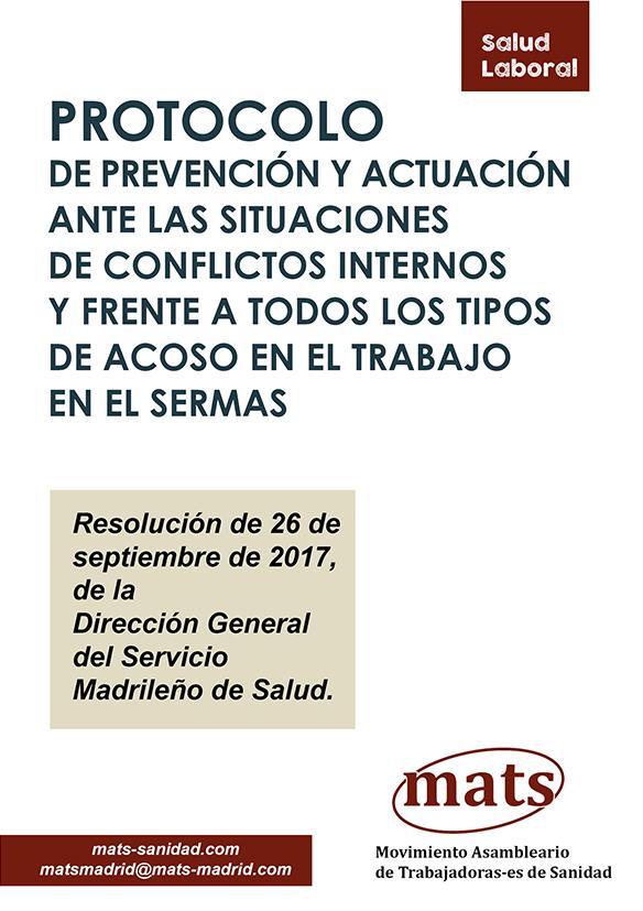Protocolo de prevención en caso de conflicto laboral interno