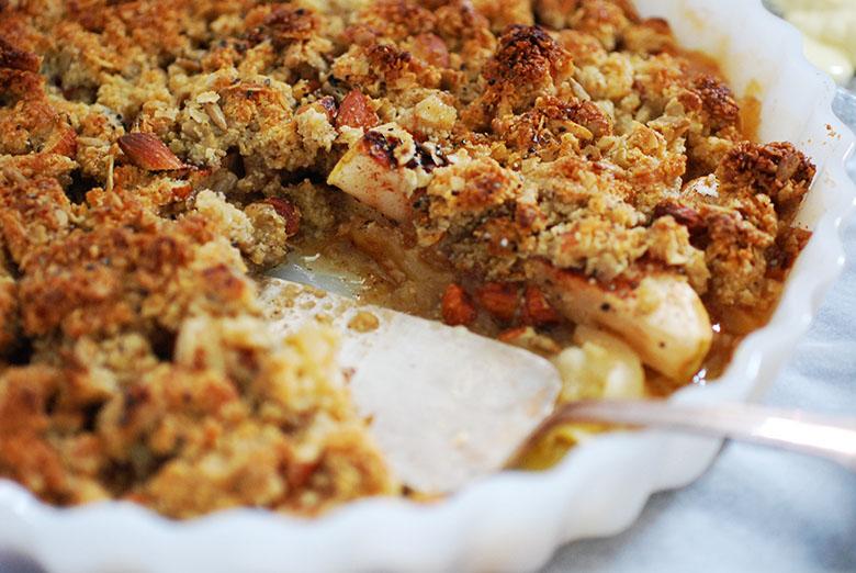 äppelkaka med mandelmjöl