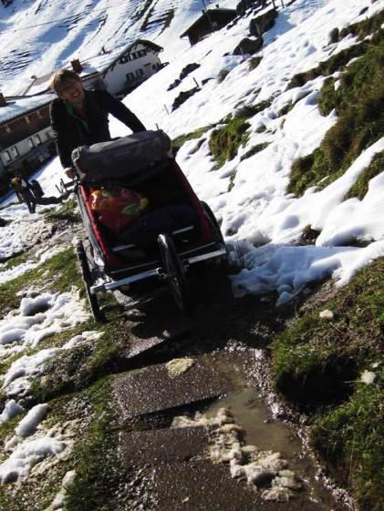 Gepäcktransport in den Bergen