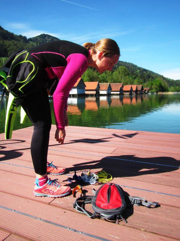 Vorbereitung auf das Freiwasser-Schwimmen