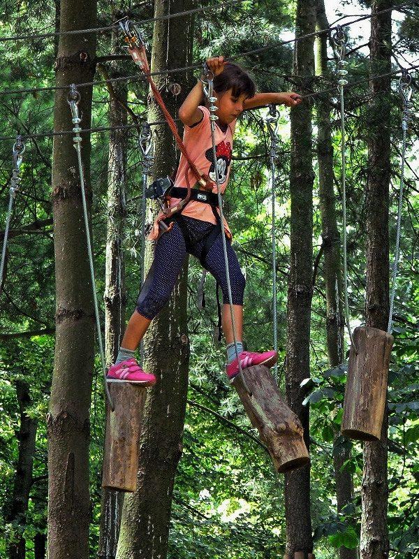 Waldseilgarten für Kinder