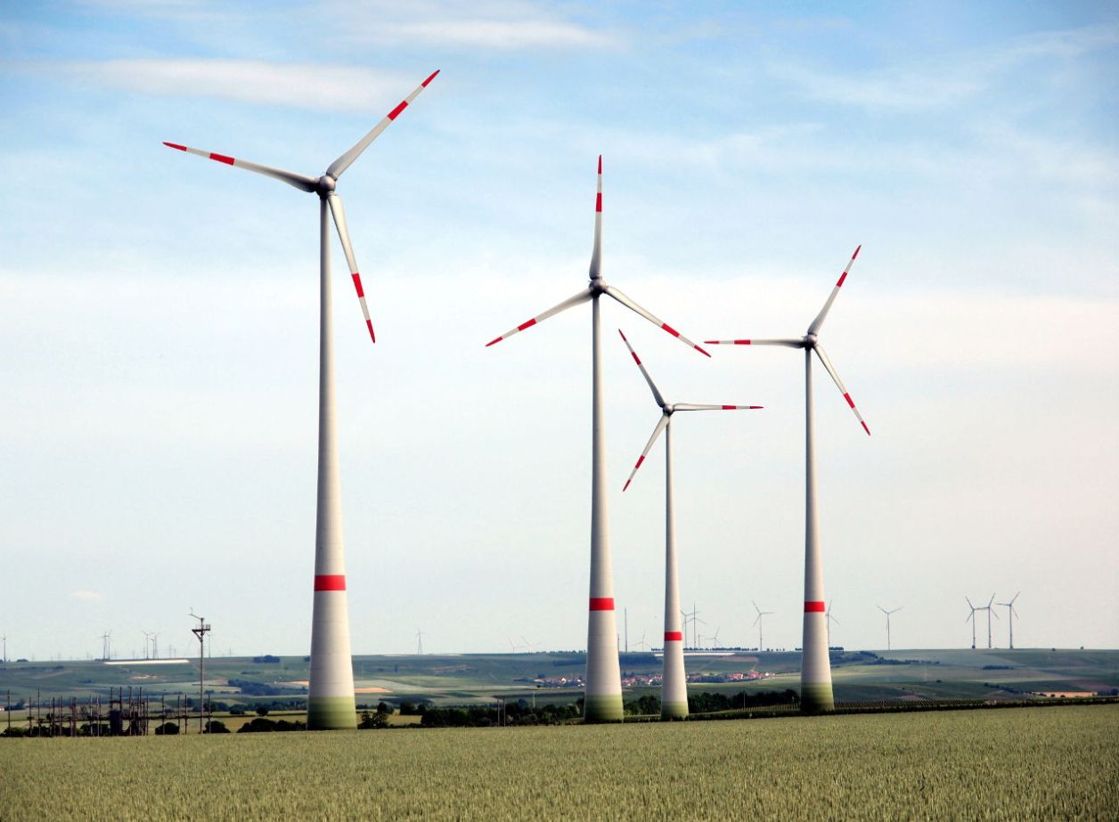 ドイツ中部の穀倉地帯に林立する風車 © Matsuda Masahiro