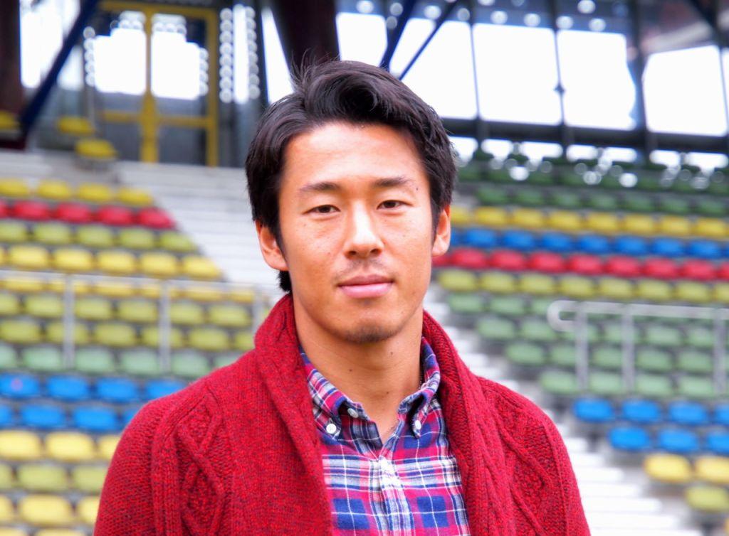 山田大記選手。KSCのホームスタジアムにて、カールスルーエ、2014.11.24. © Matsuda Masahiro