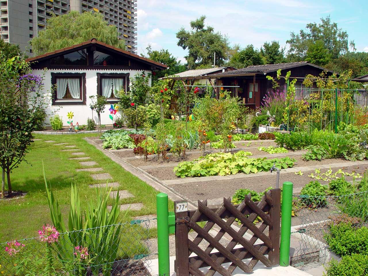 クラインガルテン協会「湖畔の草原」は2006年 度全国コンクールで金賞を受賞しました。コン クールでは見栄えや手入れ具合だけでなく、障 害者も自由に見学できるか、外国人も受け入れ ているかなど社会的側面も審査されます、カールスルーエ ©MATSUDA, Masahiro