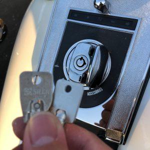 エースキーの丸い鍵