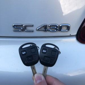 SC430のキーレス付スペアキー