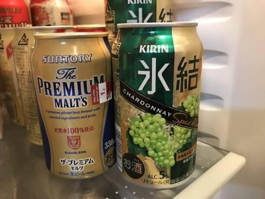 Loppiお試し引換券で得たビールとチューハイ