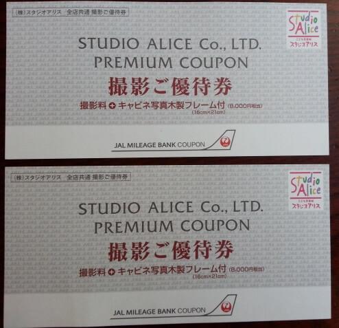 JALマイルで交換できるスタジオアリス写真撮影券 (2)