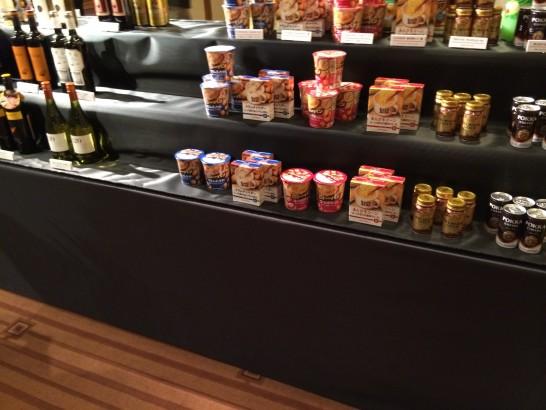 サッポロの株主総会で展示されていたサッポロ製品