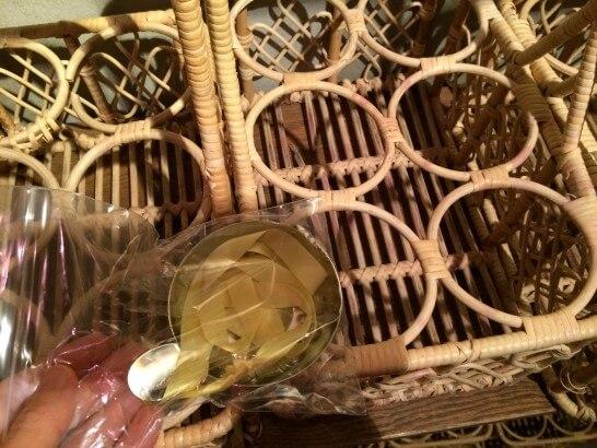 勝沼ぶどうの丘のワインカーヴの入れ物
