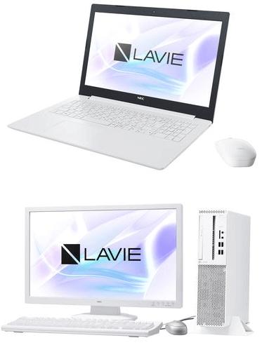 NECのノートパソコンとデスクトップPC