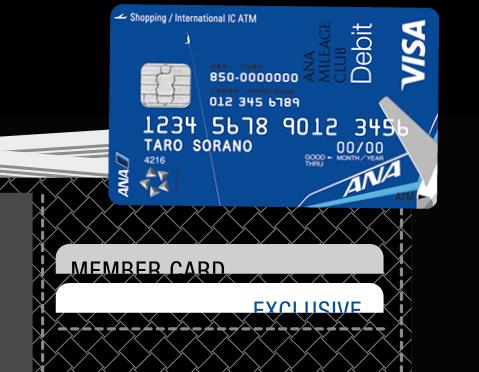 スルガ銀行ANA支店のANAマイレージクラブ Financial Pass Visaデビットカード