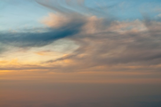 飛行機からの空