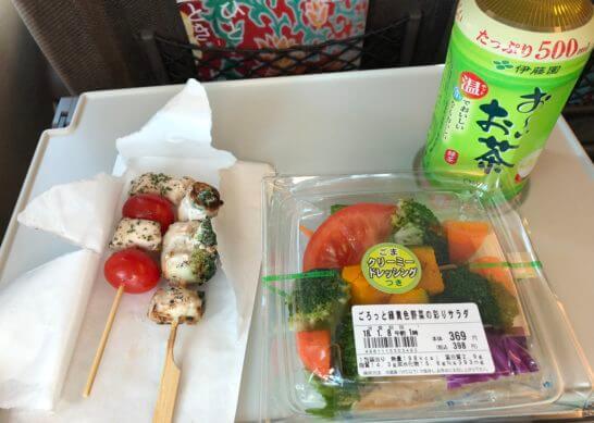 東海道新幹線での食事