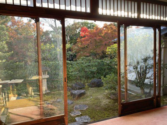 アメックス京都特別観光ラウンジの窓からの眺め