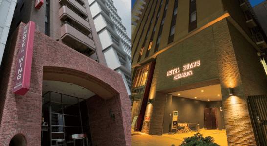 ホテルウイングインターナショナル名古屋とホテルサーブ神戸アスタ