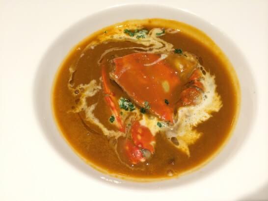 フライヤーズテーブルの蟹のスープ