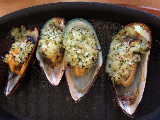 サイゼリヤのムール貝のガーリック焼き