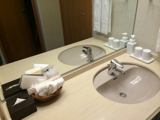 鎌倉プリンスホテルの洗面所