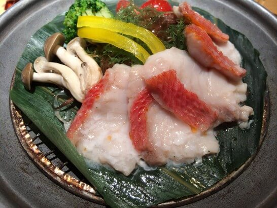 星野リゾート 界 伊東の夕食の金目鯛