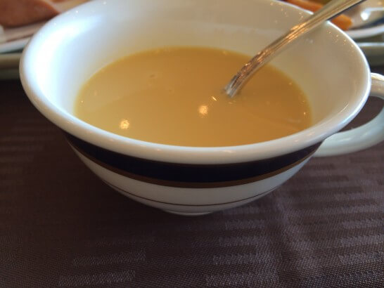 鎌倉プリンスホテルの朝食のスープ