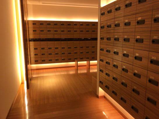 コンラッド東京 水月スパ&フィットネスの靴置き場