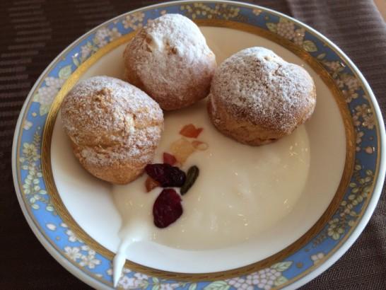 鎌倉プリンスホテルの朝食のシュークリーム