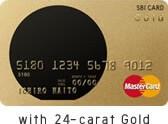 SBIカードのカード素材は純金
