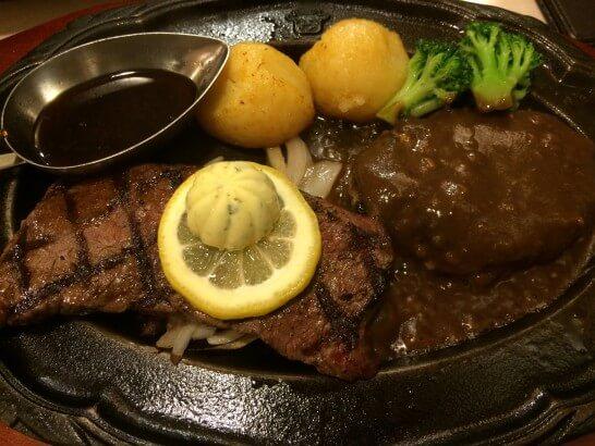 肉の万世のステーキ
