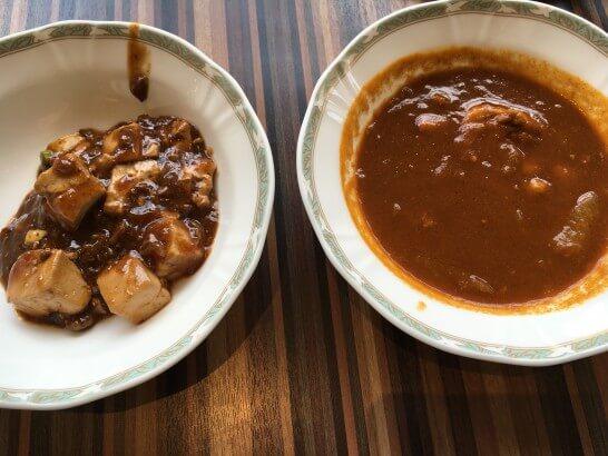麻婆豆腐とカレー