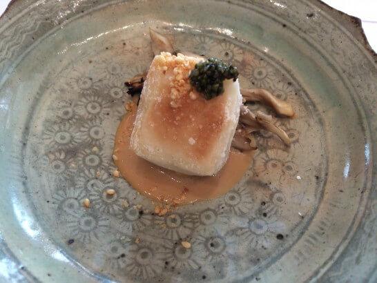 銀座 志の焼き胡麻豆腐