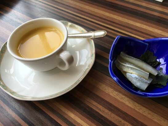 フォレスト・イン昭和館のスープとお刺身