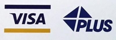 「Visa」と「Plus」のロゴ