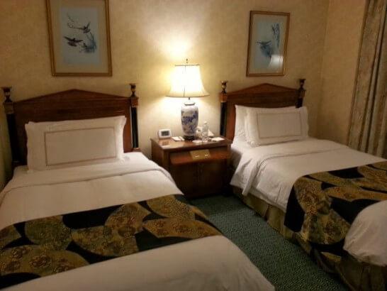 椿山荘のベッド