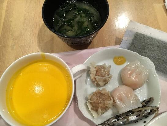 オークラ東京ベイの朝食ビュッフェのスープ・点心・のり