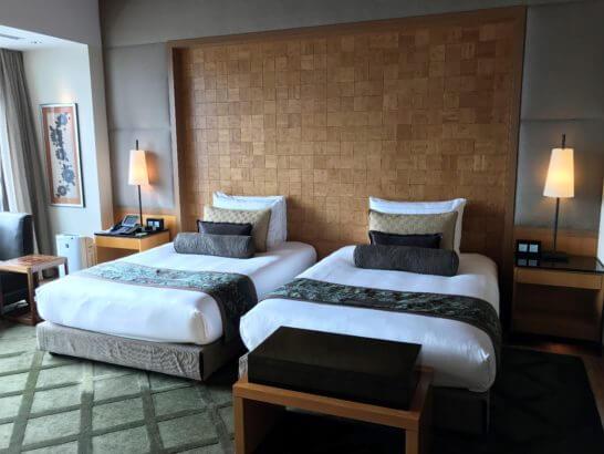 マンダリンオリエンタル東京のスイートルームのベッド
