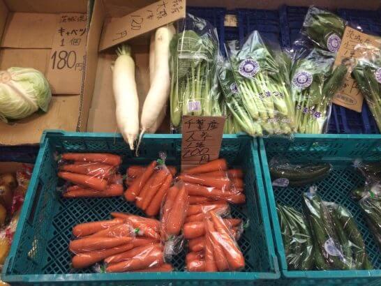 極楽湯で販売している野菜