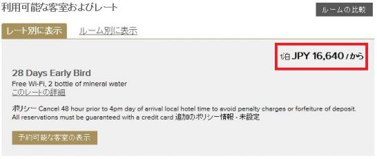 Preferred Hotels & Resortsの予約結果