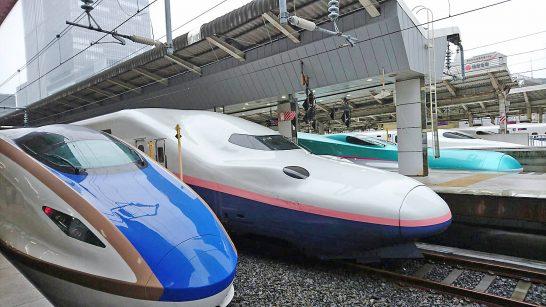 北陸新幹線と上越新幹線 と北海道新幹線