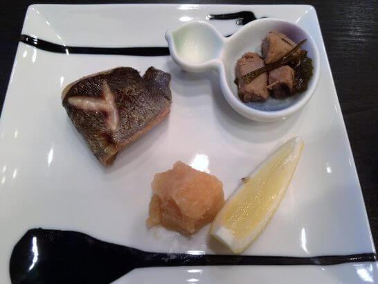 休暇村奥武蔵の夕食のお魚