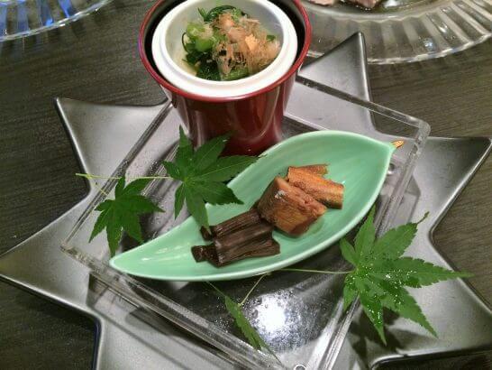 休暇村奥武蔵の夕食の前菜