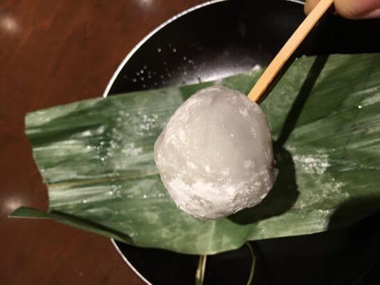 銀座 大志満の甘味(笠大福)