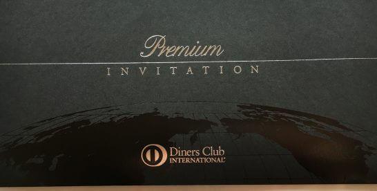 ダイナースクラブ プレミアムカードのインビテーションの字体
