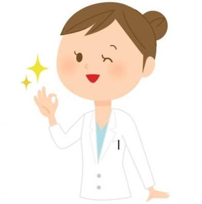 OKポーズの女性医師のイラスト