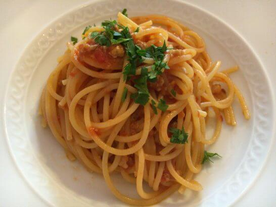 RISTORANTE REGAの渡り蟹のトマトパスタ